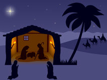 nativity wisemen Arkivfoto