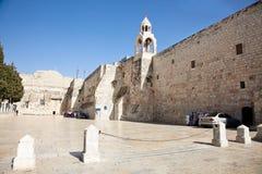 Nativitykyrka, Bethlehem, västra grupp, Israel arkivfoto