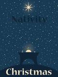 Nativityscène van Kerstmis vector illustratie