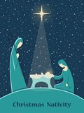 Nativityscène van Kerstmis stock illustratie
