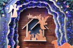 Nativityscène van Kerstmis Stock Foto