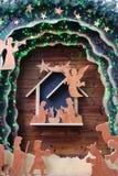 Nativityscène van Kerstmis Stock Afbeelding