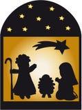 nativitysilhouettestjärnor Arkivbild