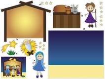 Nativitysnitt och deg Royaltyfri Fotografi