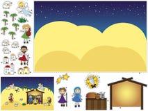 Nativitysnitt och deg Royaltyfria Bilder