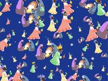 nativitywallpaper vektor illustrationer