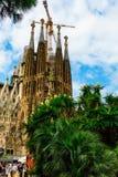 Nativiy façade from the plaça Gaudi. A view fo Nativiy façade from the plaça Gaudi stock photo