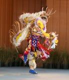 Nativo americano che balla 3 Fotografie Stock Libere da Diritti
