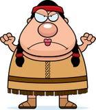 Nativo americano dos desenhos animados irritado Foto de Stock Royalty Free