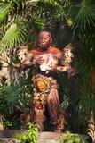 Nativo americano en la selva Imágenes de archivo libres de regalías