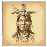 Nativo americano, indiano - um esboço tirado mão do vetor, a mão livre ilustração royalty free