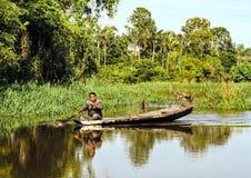Nativo das Amazonas imagens de stock