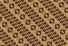 Nativo indonésio - teste padrão do batik Imagem de Stock