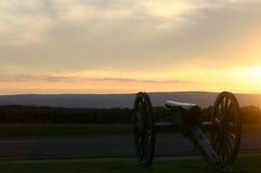 Natl Militaire Park van Gettysburg Stock Foto's