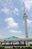 Natlonal moské i Kuala Lumpur Arkivbild