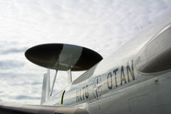 NATO airplane with special radar Stock Photography
