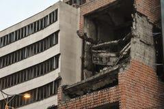 NATO Bombing scars in Belgrade. Serbia royalty free stock photo