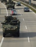 NATO convoy Stock Photography