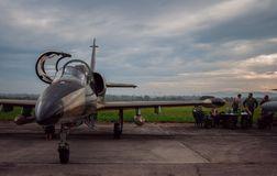 NATO days in Czech Republic. Ostrava- Mošnov airport. nExpositin of army airplanes Royalty Free Stock Photo