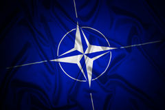 NATO flag Royalty Free Stock Photos