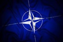 NATO flag stock illustration