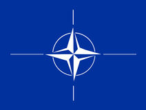 NATO flag. A vector flag of the NATO / OTAN / North Atlantic Military Alliance Royalty Free Stock Images