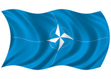 NATO flag II Royalty Free Stock Photos