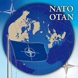 Nato flag and map Stock Photography