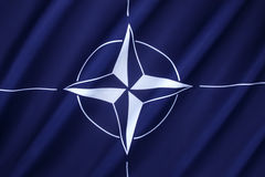 NATO Flag. The flag of the North Atlantic Treaty Organization (NATO) - Adopted three years after the creation of the organization, it has been the flag of NATO Royalty Free Stock Images