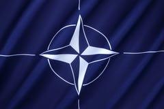NATO-flagga Royaltyfria Bilder