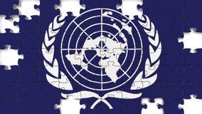 NATO-Flagge Lizenzfreie Stockbilder