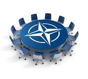 Nato meeting 3d concept Royalty Free Stock Images