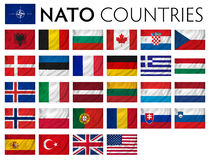 NATO memebr countries. NATO member countries isolated flags Stock Images