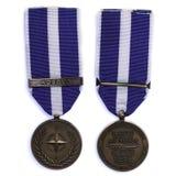 NATO peacekeeper medal Kosovo Stock Photo