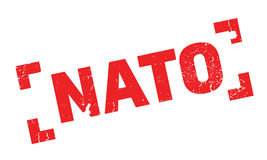 Nato rubber stamp Royalty Free Stock Photo