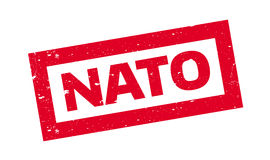 Nato rubber stamp Royalty Free Stock Photos