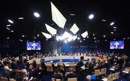 NATO sammit in Warshaw, Poland Stock Image
