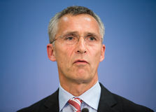 NATO Secretary General Jens Stoltenberg Royalty Free Stock Photos