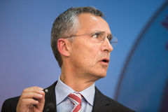 NATO Secretary General Jens Stoltenberg Royalty Free Stock Photos