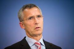NATO Secretary General Jens Stoltenberg Stock Photos