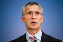 NATO Secretary General Jens Stoltenberg Stock Images