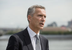 NATO Secretary General Jens Stoltenberg. NEW YORK, USA - Sep 20, 2016: NATO Secretary General Jens Stoltenberg during the 71 th session of the UN General stock photography