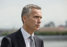 NATO Secretary General Jens Stoltenberg. NEW YORK, USA - Sep 20, 2016: NATO Secretary General Jens Stoltenberg during the 71 th session of the UN General royalty free stock images