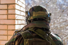 NATO soldier in full gear. Royalty Free Stock Photos