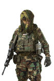 NATO soldier in full gear. stock images