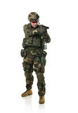 NATO soldier in full gear. stock photo