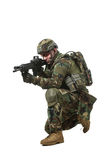 NATO soldier in full gear. stock photography