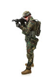 NATO soldier in full gear. royalty free stock photo
