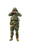NATO soldier in full gear. royalty free stock photography