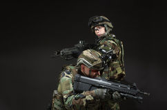 NATO soldier in full gear. stock image